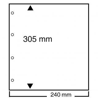 10 SAFE 499 Folienzwischenblätter Compact A4 transparent leicht mattiert 240 x 305 mm - Vorschau 1