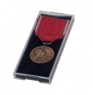 SAFE 8101 Kunsstoffetuis Sammeltuis + Schaumstoffeinlage 92x38x8 mm Für Orden Militaria Medaillen