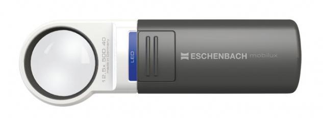 LINDNER 7123 ESCHENBACH Taschenleuchtlupe Leuchtlupe mobilux LED 12, 5 fache Vergrößerung Linse 35 mm