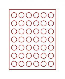LINDNER 2705 Münzbox Münzboxen Rauchglas für 42 Münzen 29, 5 mm Ø 5 DM - 5 Euro Österreich