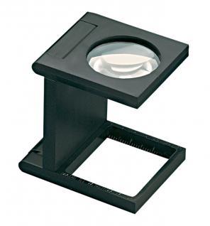 LINDNER 7199 Eschenbach Kunststoff Lupe Standlupe Fadenzähler 5 fache Vergrößerung Linse 28 mm