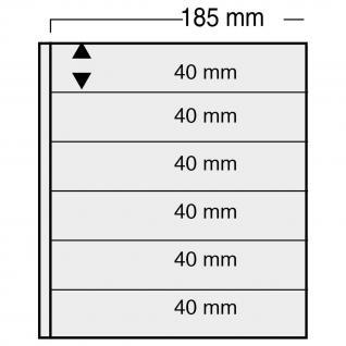 10 x SAFE 870 Ergänzungsblätter Variant + schwarzen ZWL mit 7 Taschen 185 x 34 mm