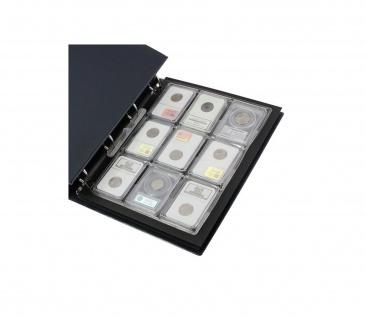 2 x SAFE 488 Compact A4 Münzblätter Hüllen A4 9 Fächer für US Slabs Münzkapseln