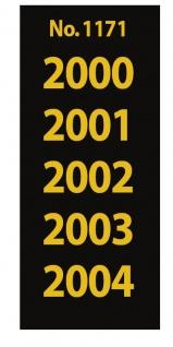 SAFE 1171 SIGNETTEN Aufkleber Jahreszahlen Year dates 2000 2001 2002 2003 2004