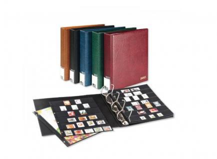 LINDNER 3506B-S Schwarz Publica L Ringbinder Album Einsteckalbum + 20 Einsteckhüllen 4107 mit 7 Streifen - 4108 mit 8 Streifen Mixed Für Briefmarken