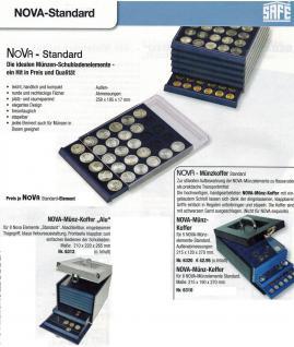 SAFE 6819 Nova Exquisite Holz Münzboxen Schubladenelement 63 Eckige Fächer x 19 mm Für 2 - 5 Pf 2 Cent € Euro - 1/10 & 1/20 Goldmünzen - Vorschau 5