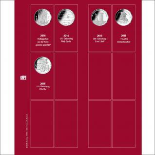 SAFE 7344-1 Premium Münzblätter 7392 mit Vordruckblättern Deutsche 20 Euro Münzen Gedenkmünzen 2016