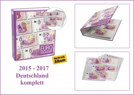 """SAFE 3101 """" 0 """" Euro Souvenir Vordruckalbum Banknotenalbum + 30 Vordruckseiten + Hüllen für alle deutschen Scheine 2015 / 2017 - Vorschau 1"""