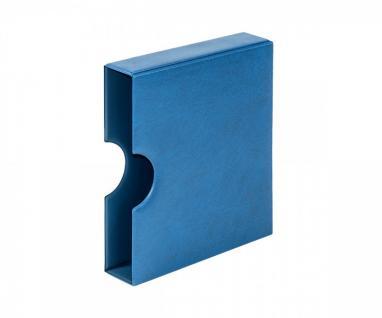 LINDNER 810K-B Schutzkassette Kassette mit Griffmulde Blau für Karat Ringbinder Münzalbum
