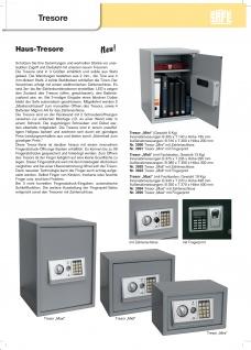 "SAFE 3991 Security Tresor "" Mini "" Möbeltresor Wandtresor Schliessfach Banksafe mit elektonischem Zahlenschloss 310x200x200 mm & Fingerprint - Vorschau 5"