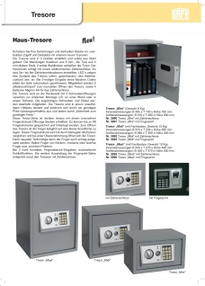 "SAFE 3995 Security Tresor "" Maxi "" Möbeltresor Wandtresor Schliessfach Banksafe mit elektonischem Zahlenschloss 350x370x500 mm + Fingerprint - Vorschau 5"