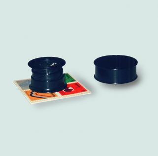 SAFE 9808 Schwarze Drehlupe Lupe Linsen Glas 20 mm 6 fache Vergrößerung inklusive Schutzdose