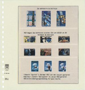 1 x LINDNER 802406 T-Blanko-Blätter Blankoblatt 18-Ring Lochung 4 Taschen 65 / 46 / 36 / 46 x 189 mm - Vorschau 2