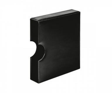 LINDNER 810K-S Schutzkassette Kassette mit Griffmulde Schwarz für Karat Ringbinder Münzalbum