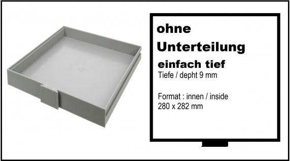 SAFE 6102 Doppelt Hoch 20 mm BEBA SCHUBLADEN Schuber 1 FACH ohne Einteilung für Maxi Münzkasten