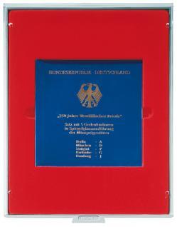 LINDNER 2211 MÜNZBOXEN Münzbox Set 5 x 10 DM Gedenkmünzen Satz PP eingeschweist Standard
