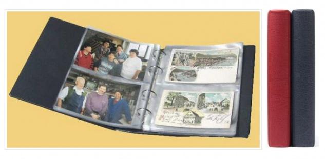 KOBRA PK3 Rot Banknotenalbum Album für Geldscheine Banknoten Postkarten Ansichtskarten 40 Blatt = 160 St.