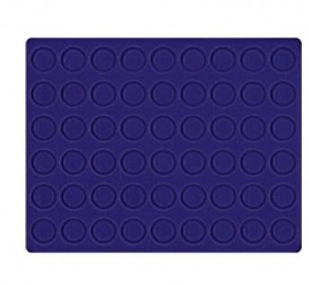 LINDNER 2494-10M CARUS-4 Echtholz Holz Münzkassetten 4 Tableaus blau 216 Fächer Münzen bis 25, 75 x 25, 75 mm 2 Euro Münzen - Vorschau 3