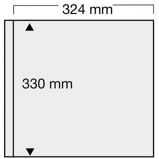 1 x SAFE 6032 Ergänzungsblätter SCHWARZ 1 Tasche 324 x 330 mm für 2 Sammelobjekte