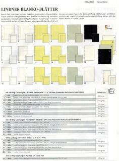 10 x LINDNER 802a Karton Blanko-Blätter PERMAPHIL Weiß + silbergrauer Netzdruck + Schwarze Umrandunsglinie 193 x 251 mm Format 18-Ring Lochung 272 x 296 mm - Vorschau 2