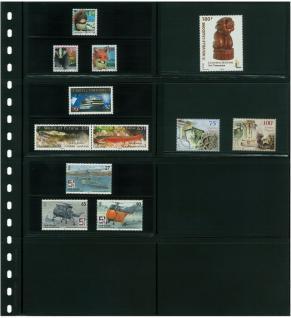 10 LINDNER 040P Omnia Einsteckblätter schwarz 8 Taschen 120x66 mm Für 16 Klemmkarten 031 032 041 042 - Vorschau 3