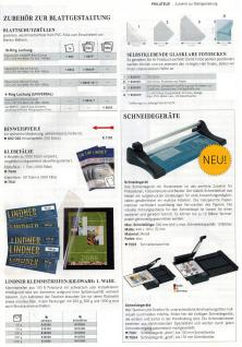 10 x LINDNER 802o Karton Blanko Blätter PERMAPHIL Weiß unbedruckt Format 18-Ring Lochung 272 x 296 mm - Vorschau 5