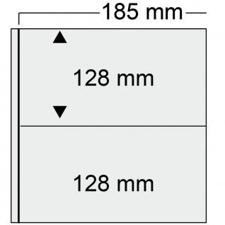 SAFE 520-6 Braun Universal Album Ringbinder + 10 Hüllen - 2 Taschen 185 x 128 mm Für Postkarten Ansichtskarten Banknoten Geldscheine Briefe FDC - Vorschau 2