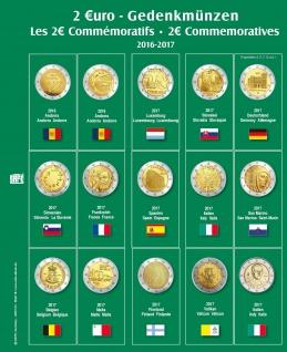 SAFE 7341-19 Premium Münzblätter 7393 mit Vordruckblättern 2 Euro Münzen Gedenkmünzen 2017