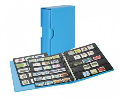 LINDNER S3542B-5 Nautic - Blau Ringbinder Briefmarkenalbum PUBLICA M COLOR Multi Collect + Kassette & je 5 Blätter MU1315 & MU1316 Für Briefmarken & Blocks