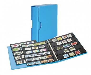 LINDNER S3542B-5 Nautic - Blau Ringbinder PUBLICA M COLOR Multi Collect + Kassette & je 5 Blätter MU1315 & MU1316 Für Briefmarken & Blocks
