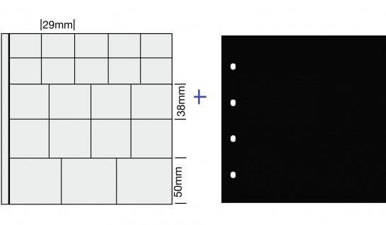 """5x SAFE 838 COIN Combi Münzblätter Ergänzungsblätter """" MIX """" 29 / 38 / 50 mm"""