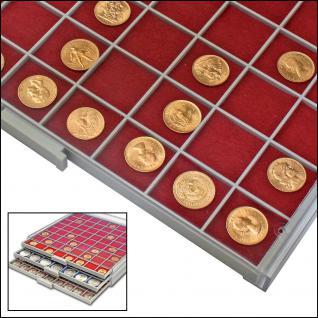 SAFE 6130 BEBA Filzeinlagen Rot für Schubladen Schuber 6110 Münzboxen 6610 Maxi Münzkasten - Vorschau 1