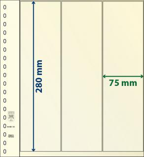 1 x LINDNER 802121 T-Blanko-Blätter Blankoblatt 18-Ring Lochung 3 Taschen 280 x 75 mm senkrecht Idel für Rollenmarken - Rollenstreifen