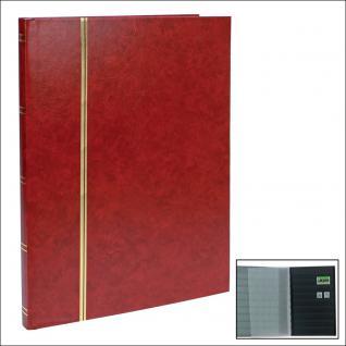 SAFE 158-1 Briefmarken Einsteckbücher Einsteckbuch Einsteckalbum Einsteckalben Album Weinrot - Rot 16 schwarze Seiten - Vorschau 1