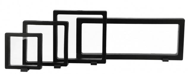 Safe 4528 Schweberahmen Neo Rahmen Frame Presenter 3d Schwarz 110 X 110 Mm / 92 X 92 Mm Für Geocoins - Münzen - Travel Bugs - Geocaching - Vorschau 4