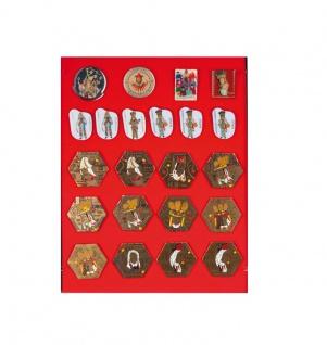1 x LINDNER 2417E Schaumstoffeinlage Rot mit samtartiger Oberfläche für 2368 - 2369 - 2417 - 2418 - 2419 - 2457 - 2458 - 2459