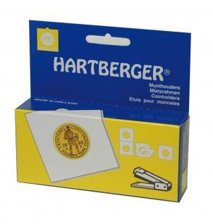100 SAFE 7840HXL Münzrähmchen Standard 50x50 mm zum heften Weiß 39, 5 mm
