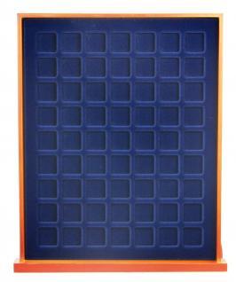 SAFE 6819 XXL Nova Exquisite Holz Münzboxen Schubladenelement mit 2 Tableaus 6319 für 126 Eckige Fächer x 19 mm Für 2 - 5 Pf 2 Cent € Euro - 1/10 & 1/20 Goldmünzen - Vorschau 2