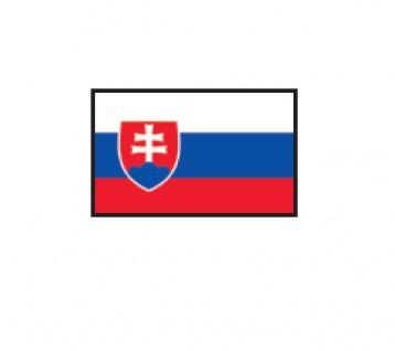 1 x SAFE 1175 SIGNETTE Flagge Slovakei - Slovakia Aufkleber Kennzeichnungshilfe - selbstklebend