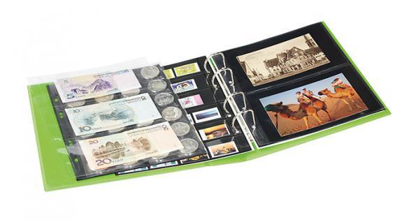 LINDNER S3540 - 13 - Viola MULTI COLLECT Ringbinder PUBLICA M COLOR (leer) Für Briefmarken Münzen Bankoten zum selbst befüllen - Vorschau 3