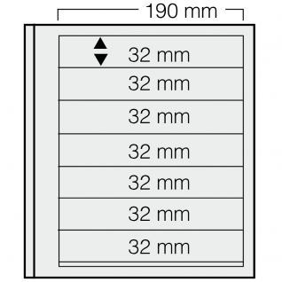 5 x SAFE 617 dual Blankoblätter Einsteckblätter Ergänzungsblätter mit je 7 Taschen 190 x 32 mm Für Briefmarken - Banknoten - Briefe - Postkarten