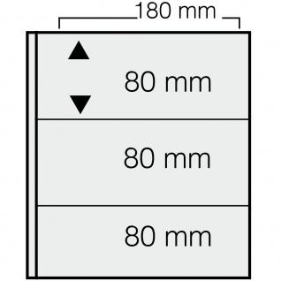 10 x SAFE 1278 ARTline Ergänzungsblätter Banknotenhüllen Hüllen 2er Teilung 180 x 80 mm