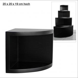 """SAFE 5341 Deko Präsentations Eck-Boards """" Syno Schwarz """" S - Small L 20 x H 20 x T 15 cm - Für alle Ihre Schätze von A - Z"""