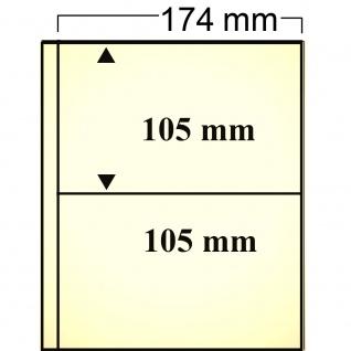 10 SAFE 7875 Compact Ergänzungsblätter Hüllen mit sandfarbenen Einlagen 2 Taschen 174 x 105 mm