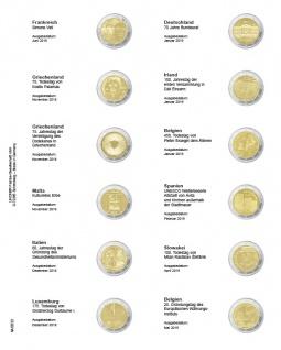 1 x LINDNER MU2E22 Multi Collect Münzhüllen Vordruckblatt 2 Euro Gedenkmünzen Frankreich 2018 - Belgien 2019