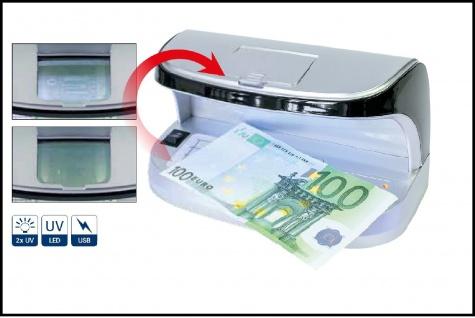 LINDNER S7085 UV Prüfer Prüfgerät UV Licht von oben & Weisslicht von unten & Magnetsensor Briefmarken Geldscheine Kreditkarten