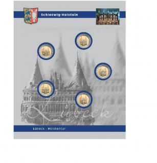 1 x SAFE 7821-1 TOPset Ergänzungsblatt Münzhüllen für 5x 2 Euromünzen Deutsche Bundesländer Schleswig-Holstein Lübeck Holstentor 2006