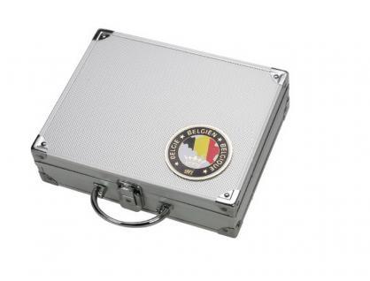 SAFE 239 ALU Sammelkoffer SMART Belgien / Belgique / Belgie / Belgium - leer für alles was gesammelt wird von A - Z