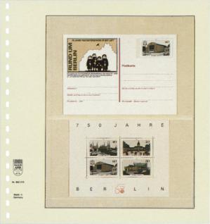 1 x LINDNER 802210 T-Blanko-Blätter Blankoblatt 18-Ring Lochung - 2 Taschen 127 / 102 x 189 mm - Vorschau 2