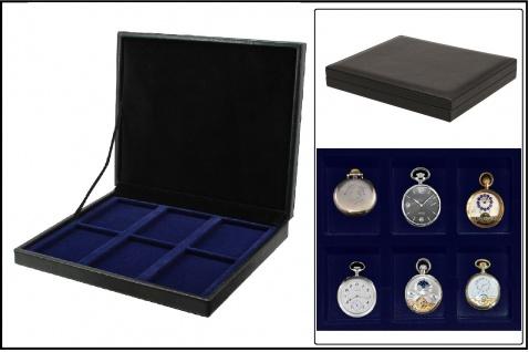 SAFE 63730 NOVA deluxe Uhrenkassette schwarz 6x 63x85 mm Für Taschenuhren